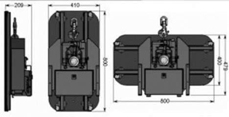 Compactkraan Montage heeft een vacuümzuiger die voor zowel kleine als grote ruiten geschikt is.